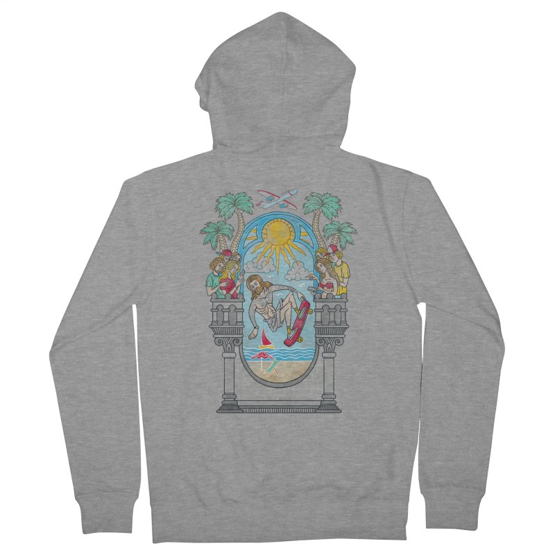 Skater God Men's Zip-Up Hoody by badbasilisk's Artist Shop