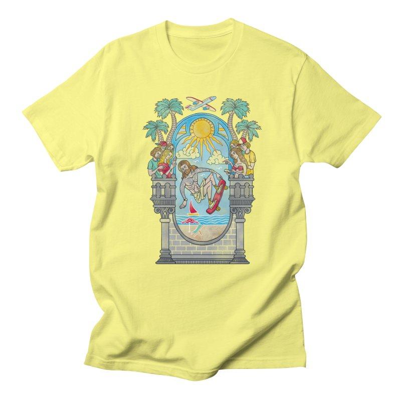 Skater God Men's T-Shirt by badbasilisk's Artist Shop