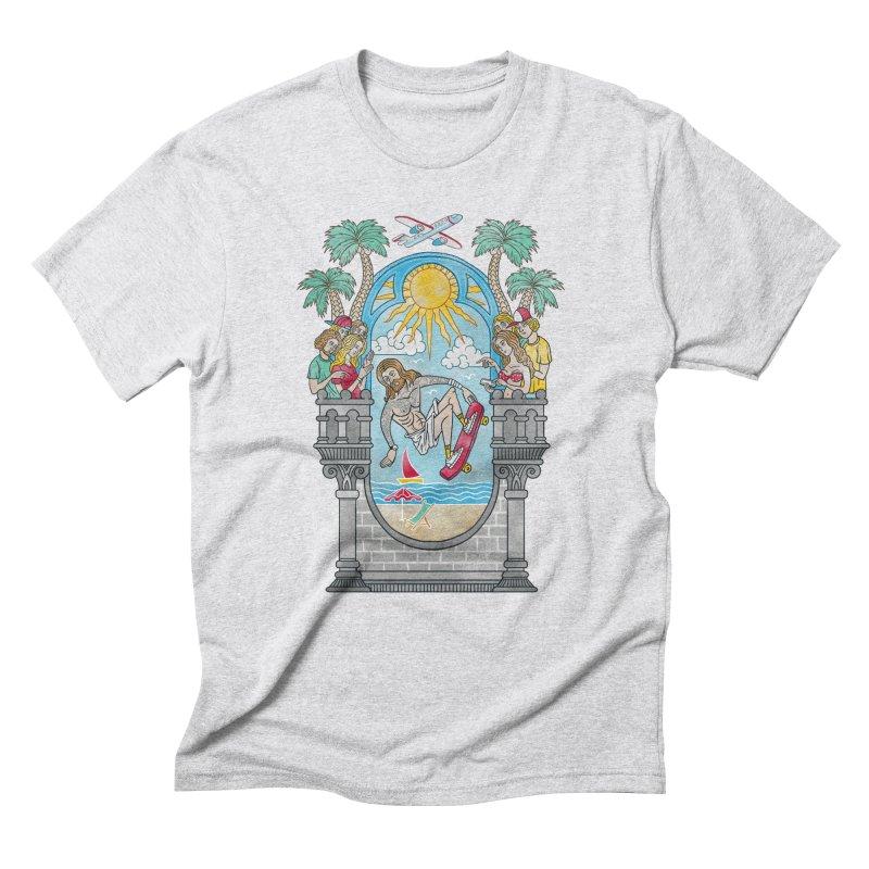 Skater God Men's Triblend T-shirt by badbasilisk's Artist Shop