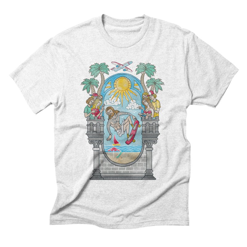 Skater God Men's Triblend T-shirt by badbasilisk's Artist Shop