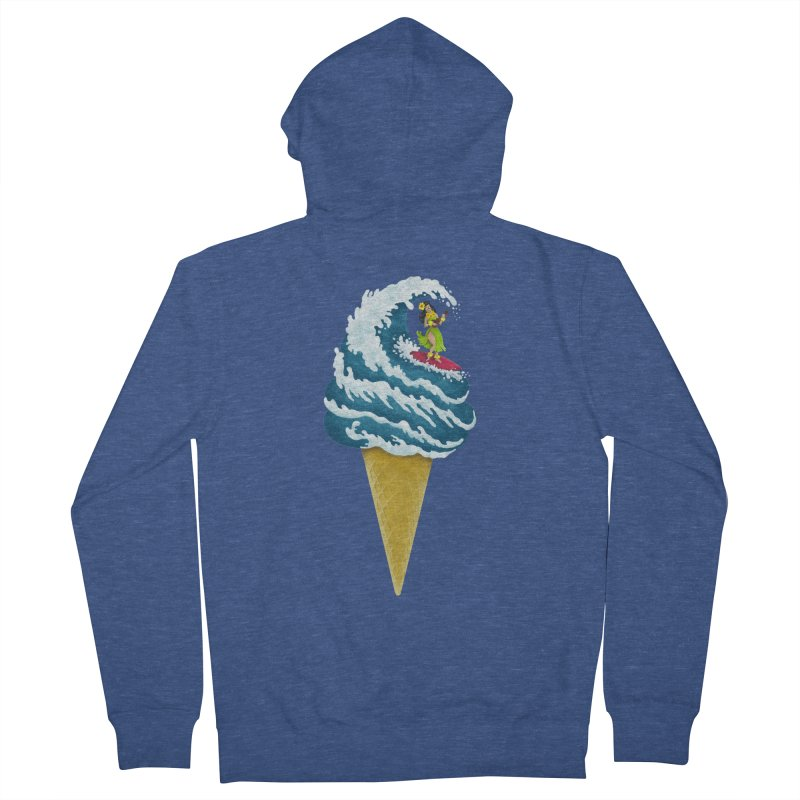 Perfect Wave Women's Zip-Up Hoody by badbasilisk's Artist Shop