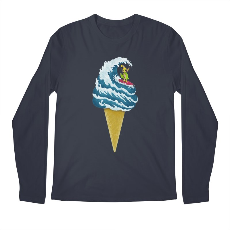 Perfect Wave Men's Longsleeve T-Shirt by badbasilisk's Artist Shop