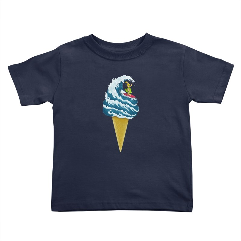 Perfect Wave Kids Toddler T-Shirt by badbasilisk's Artist Shop