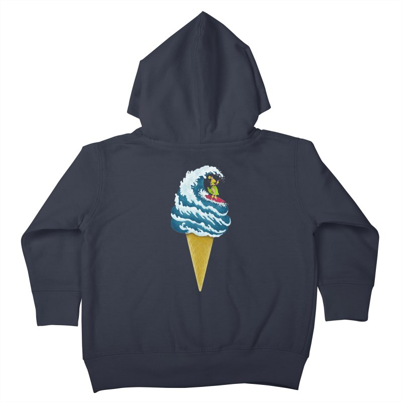 Perfect Wave Kids Toddler Zip-Up Hoody by badbasilisk's Artist Shop