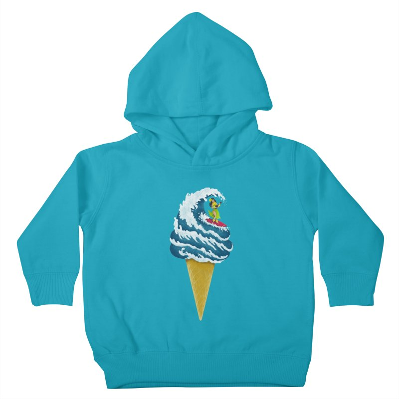Perfect Wave Kids Toddler Pullover Hoody by badbasilisk's Artist Shop