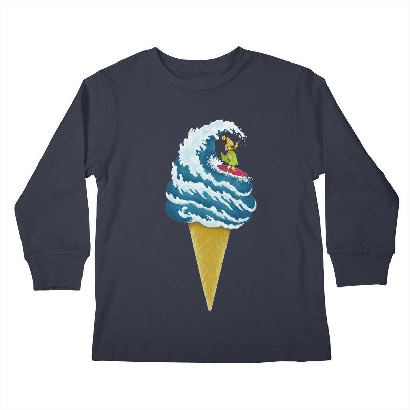 Perfect Wave Kids Longsleeve T-Shirt by badbasilisk's Artist Shop