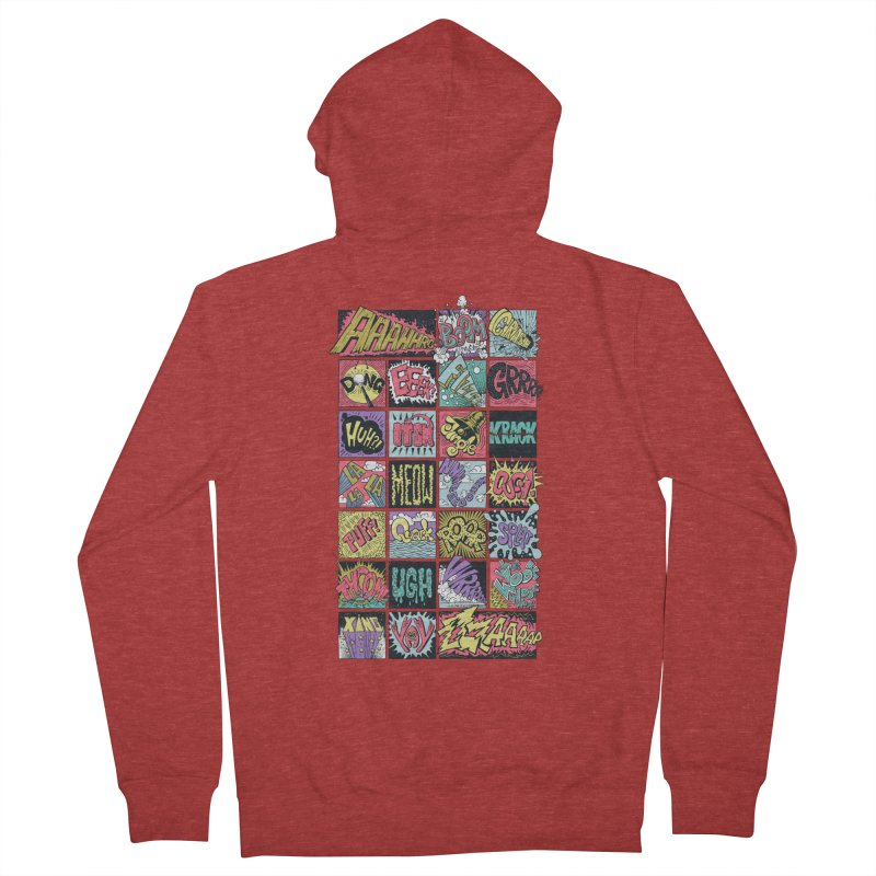 Crash Boom Bang Men's Zip-Up Hoody by badbasilisk's Artist Shop