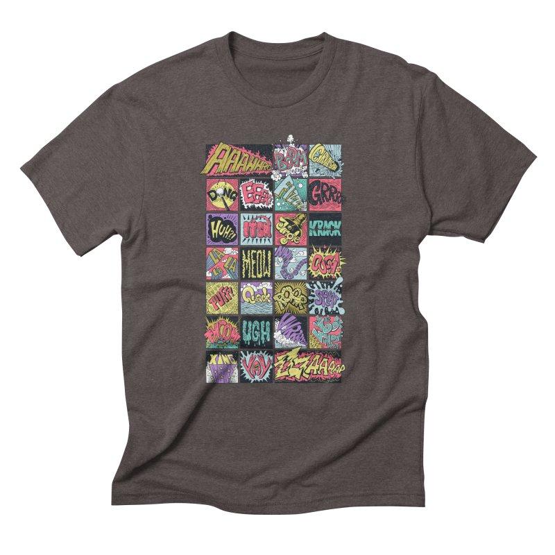 Crash Boom Bang Men's Triblend T-Shirt by badbasilisk's Artist Shop
