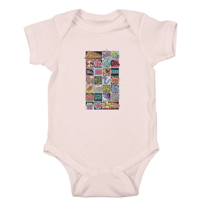 Crash Boom Bang Kids Baby Bodysuit by badbasilisk's Artist Shop