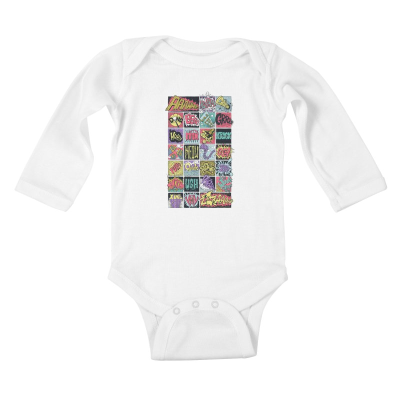 Crash Boom Bang Kids Baby Longsleeve Bodysuit by badbasilisk's Artist Shop