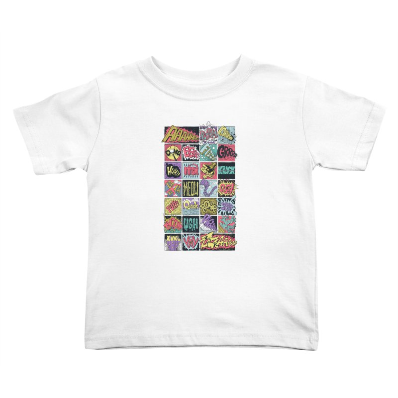 Crash Boom Bang Kids Toddler T-Shirt by badbasilisk's Artist Shop