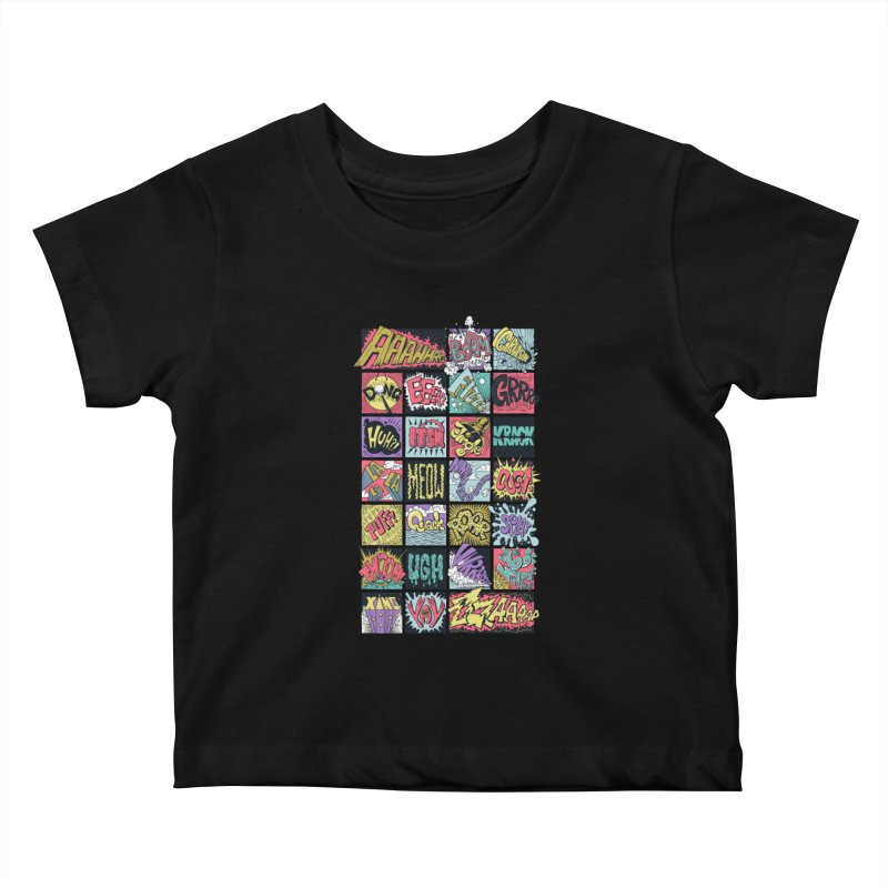 Crash Boom Bang Kids Baby T-Shirt by badbasilisk's Artist Shop