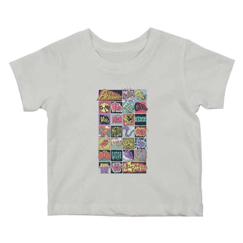 Crash Boom Bang Kids Baby T-Shirt by badbasilisk's Artist Shop