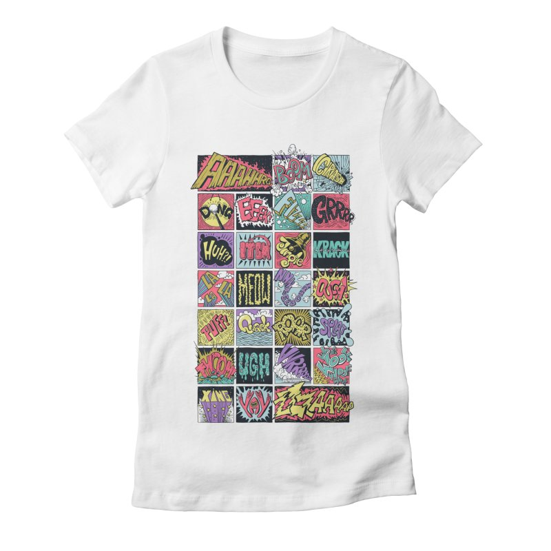Crash Boom Bang Women's Fitted T-Shirt by badbasilisk's Artist Shop