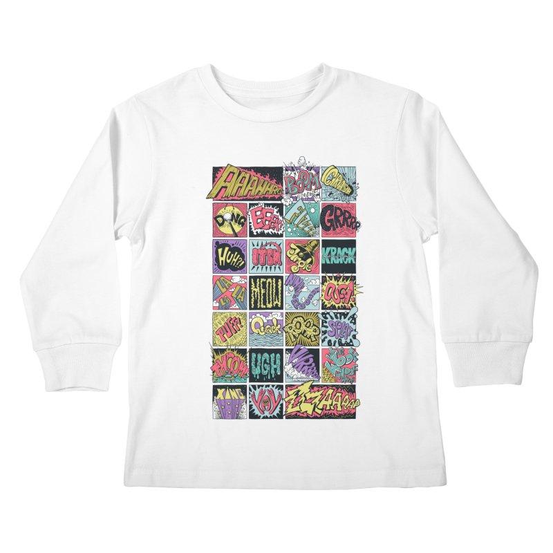 Crash Boom Bang Kids Longsleeve T-Shirt by badbasilisk's Artist Shop