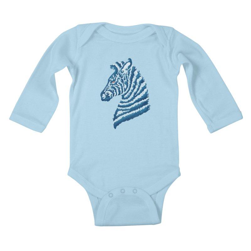 SEAbra Kids Baby Longsleeve Bodysuit by badbasilisk's Artist Shop