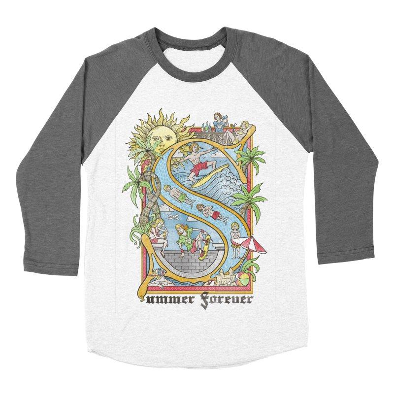 Summer forever Men's Baseball Triblend Longsleeve T-Shirt by badbasilisk's Artist Shop