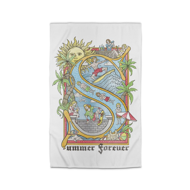 Summer forever Home Rug by badbasilisk's Artist Shop