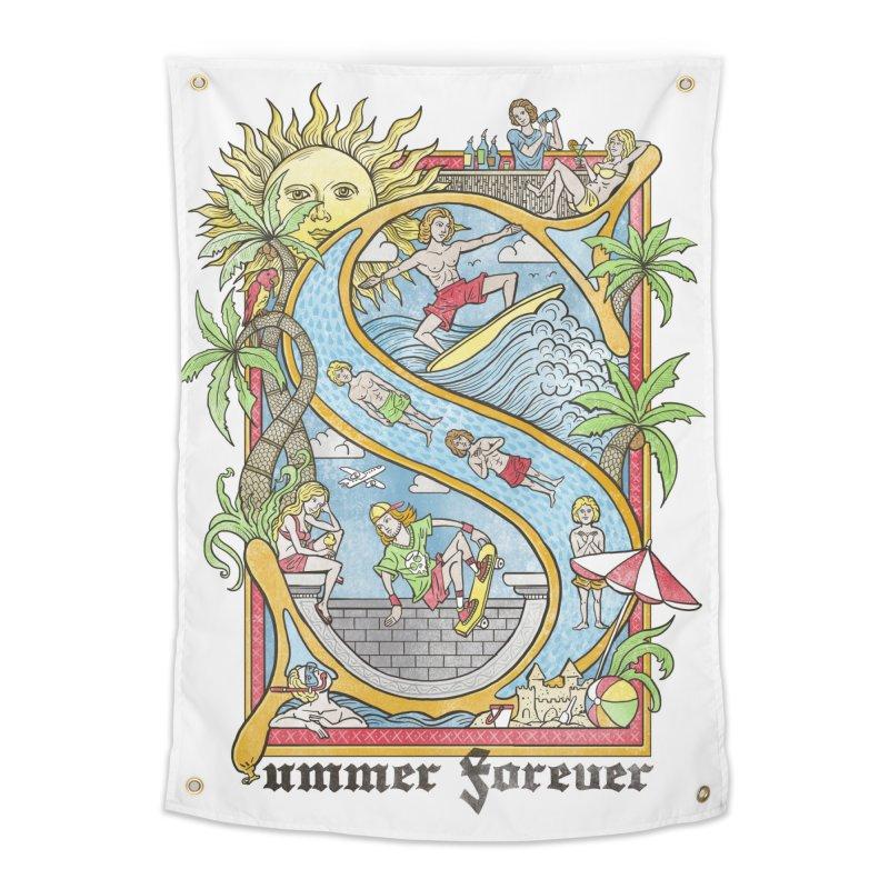 Summer forever Home Tapestry by badbasilisk's Artist Shop
