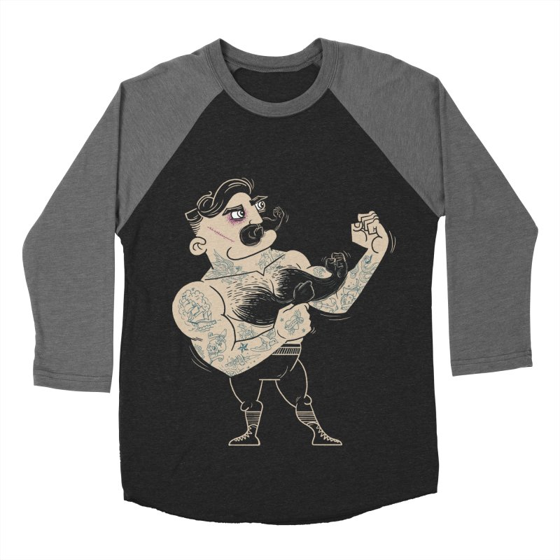 Overly manly man Men's Baseball Triblend Longsleeve T-Shirt by badbasilisk's Artist Shop