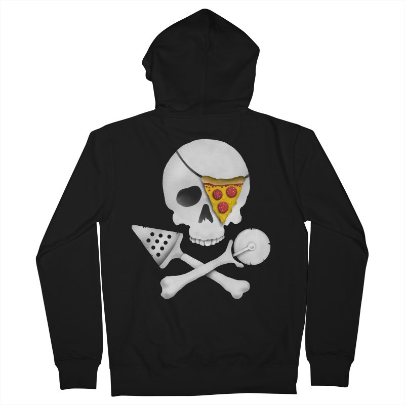 Pizza Raider Men's Zip-Up Hoody by badbasilisk's Artist Shop