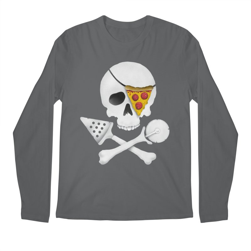 Pizza Raider Men's Longsleeve T-Shirt by badbasilisk's Artist Shop