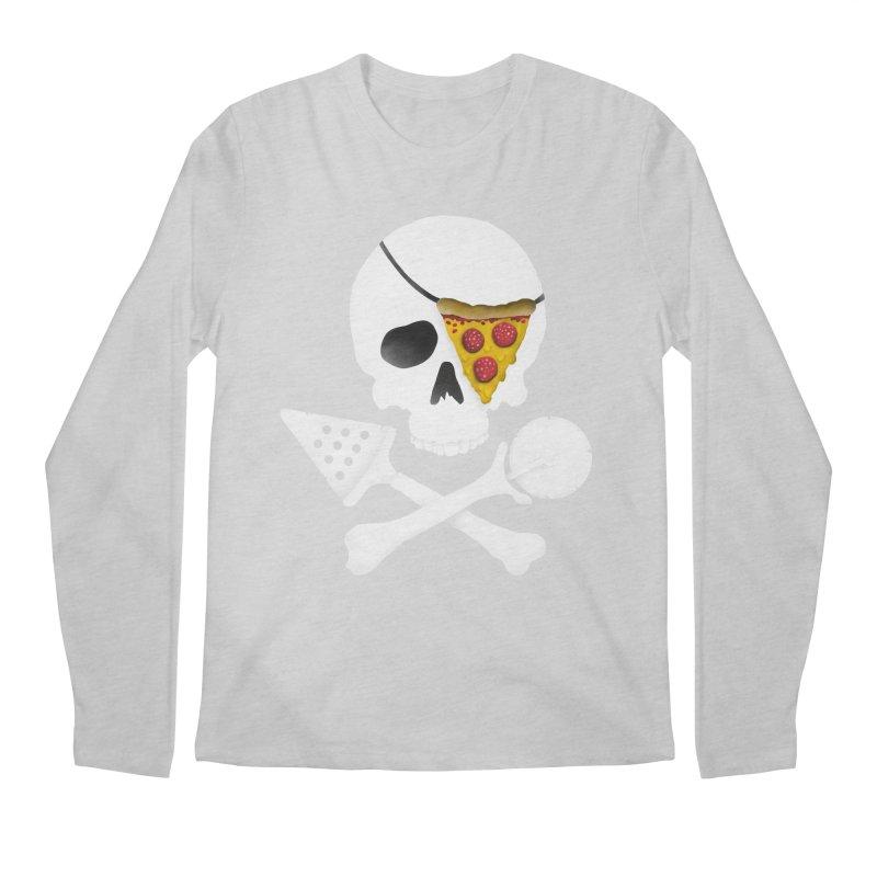Pizza Raider Men's Longsleeve T-Shirt by badbasilisk's Artist Shop