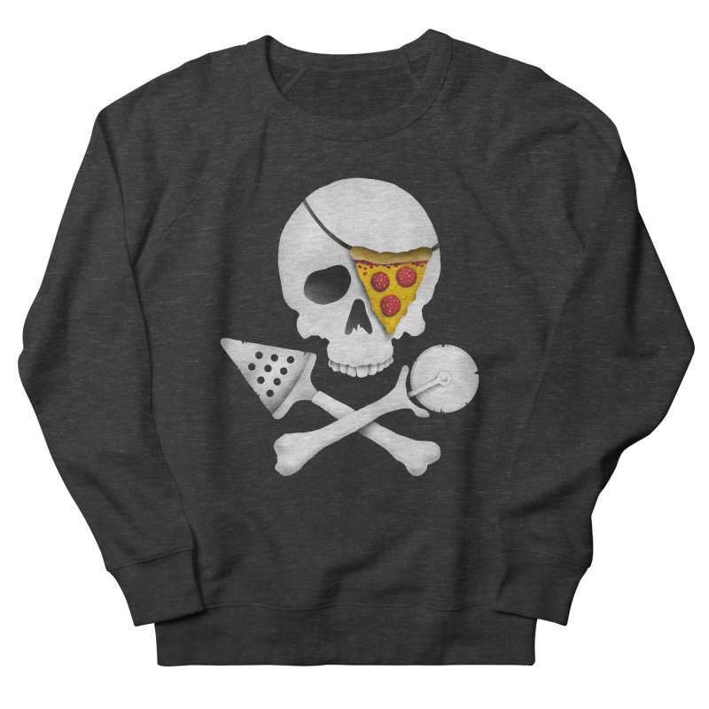 Pizza Raider Men's Sweatshirt by badbasilisk's Artist Shop