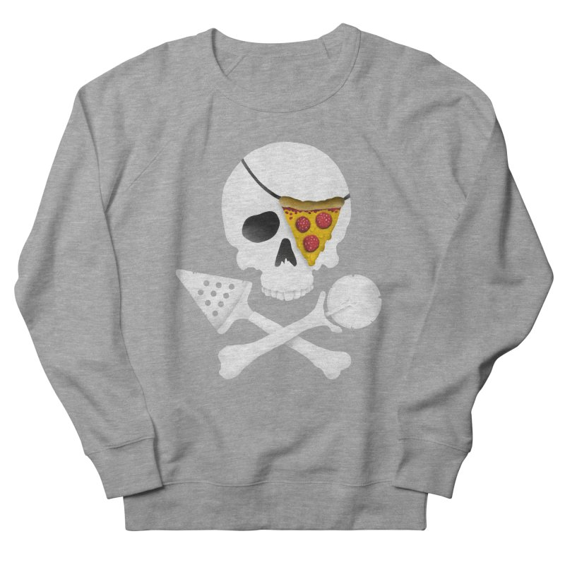 Pizza Raider Men's Sweatshirt by badbasilisk's Artist Shop