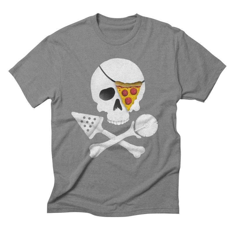 Pizza Raider Men's Triblend T-shirt by badbasilisk's Artist Shop