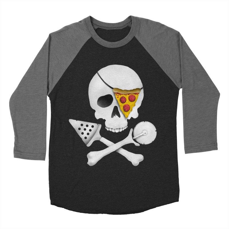 Pizza Raider Women's Baseball Triblend T-Shirt by badbasilisk's Artist Shop