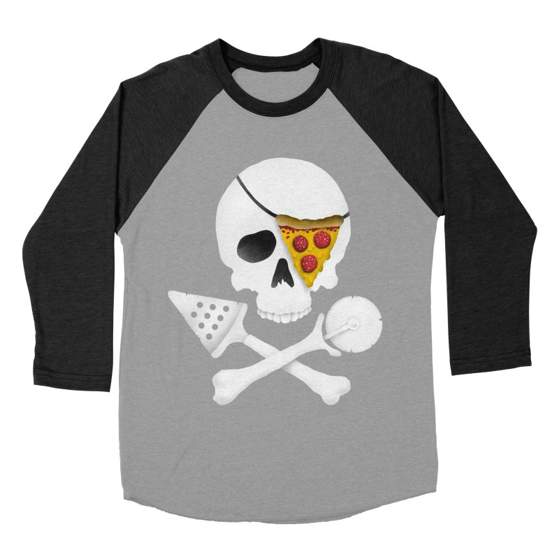 Pizza Raider Men's Baseball Triblend T-Shirt by badbasilisk's Artist Shop