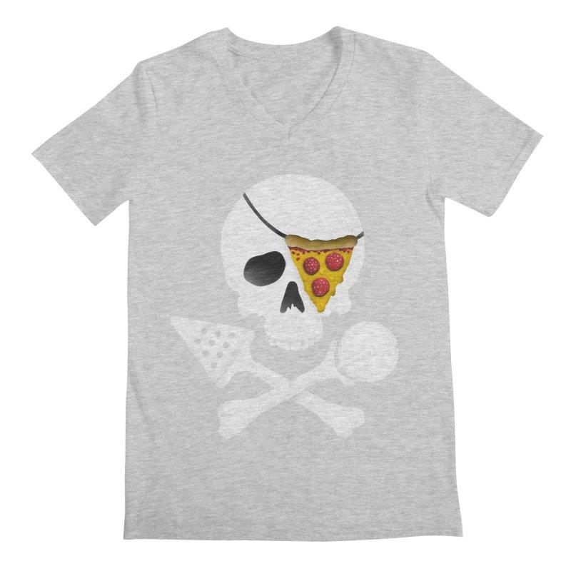 Pizza Raider Men's V-Neck by badbasilisk's Artist Shop
