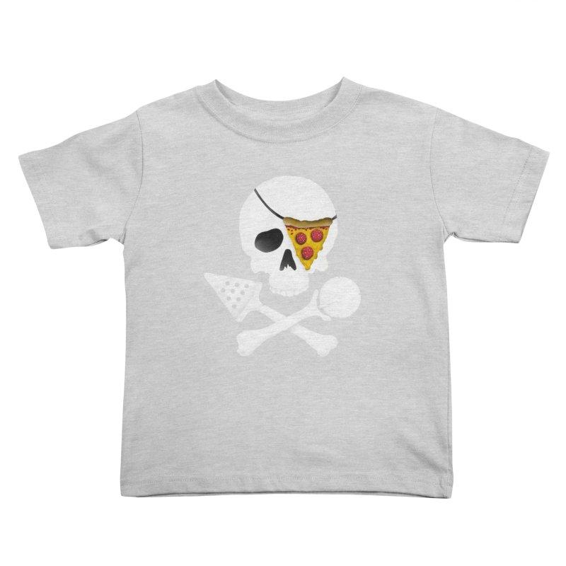 Pizza Raider Kids Toddler T-Shirt by badbasilisk's Artist Shop