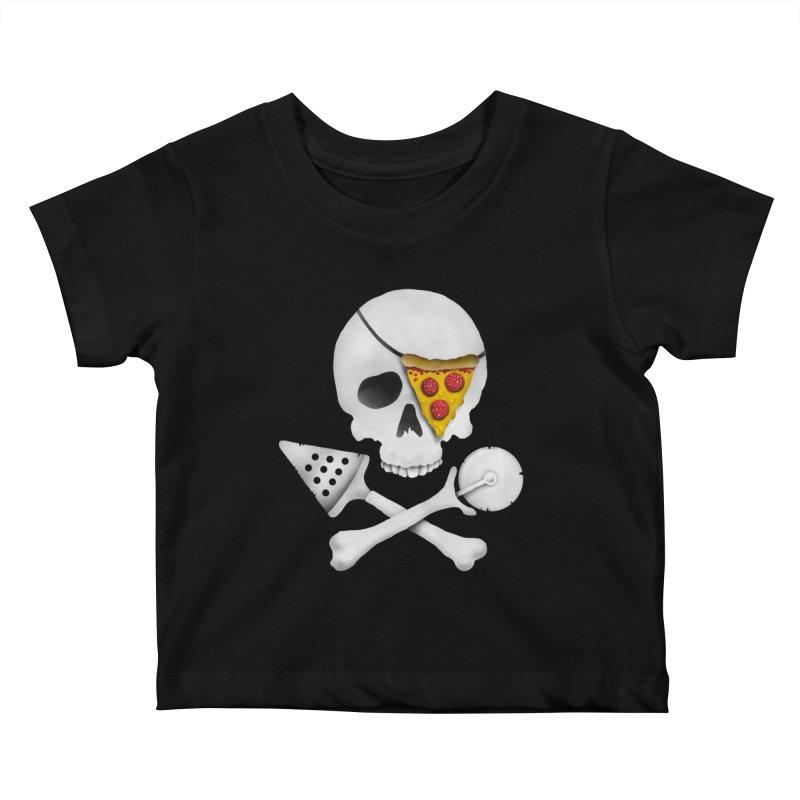 Pizza Raider Kids Baby T-Shirt by badbasilisk's Artist Shop