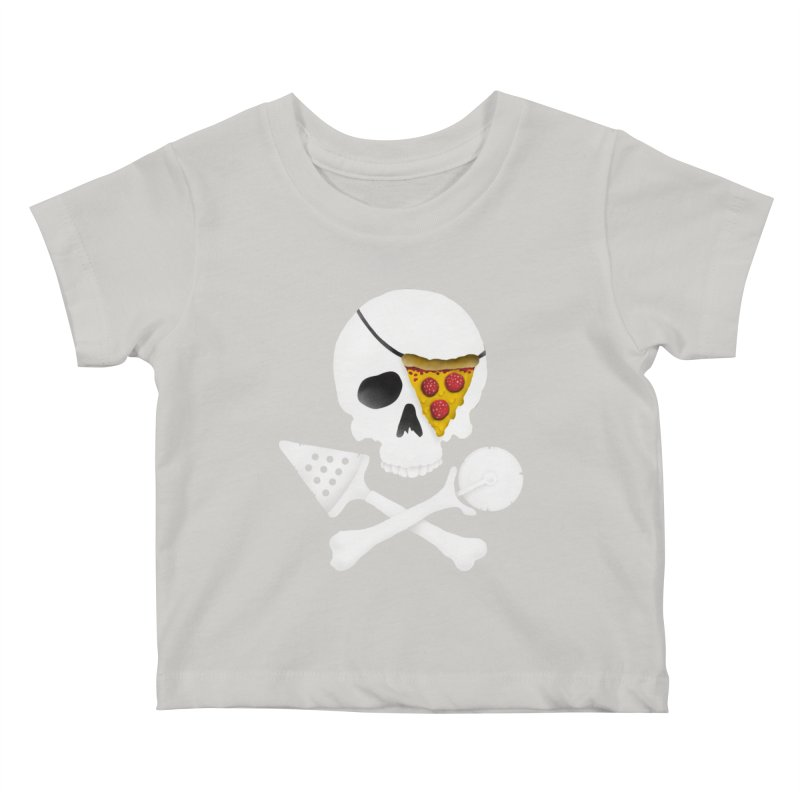 Pizza Raider Kids Baby T-Shirt by badbasilisk's Artist Shop