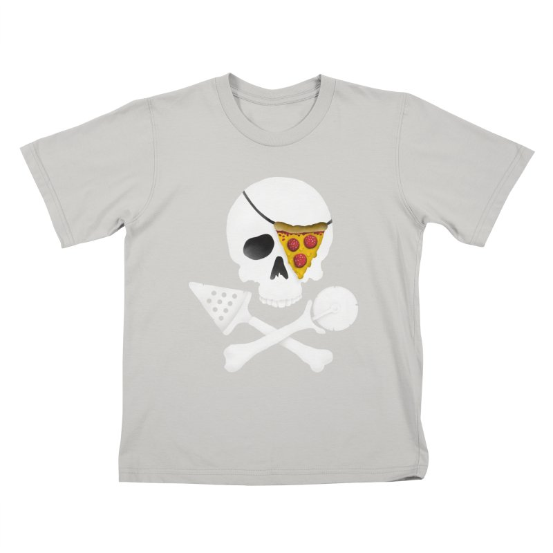Pizza Raider Kids T-shirt by badbasilisk's Artist Shop
