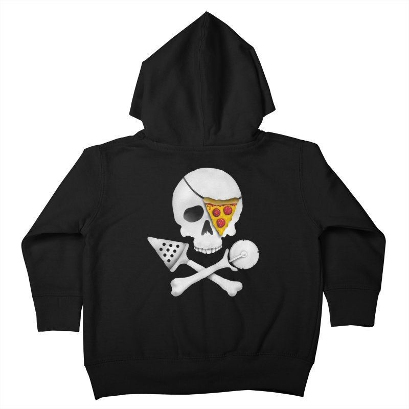 Pizza Raider Kids Toddler Zip-Up Hoody by badbasilisk's Artist Shop