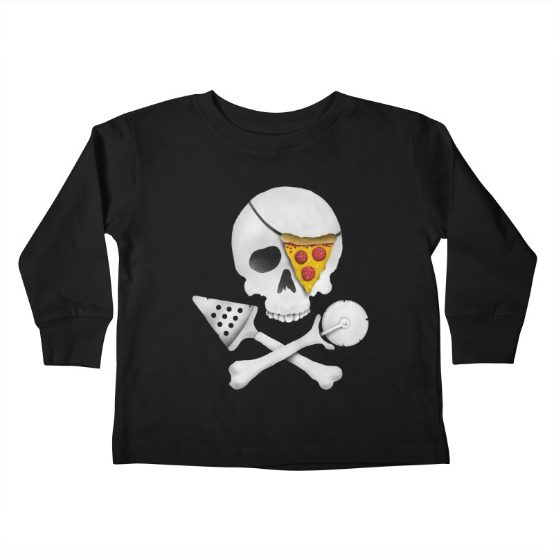 Pizza Raider Kids Toddler Longsleeve T-Shirt by badbasilisk's Artist Shop