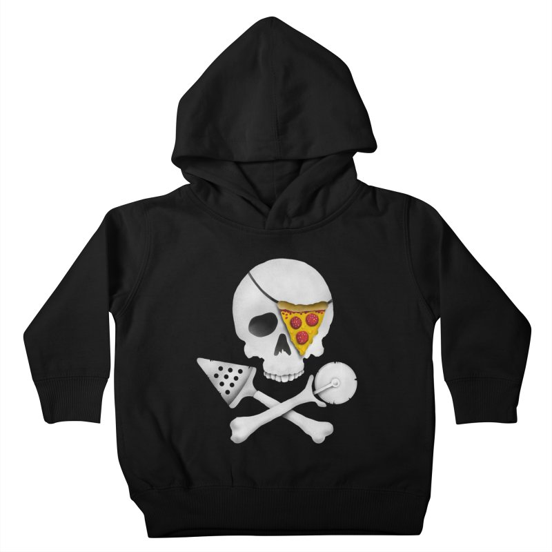 Pizza Raider Kids Toddler Pullover Hoody by badbasilisk's Artist Shop