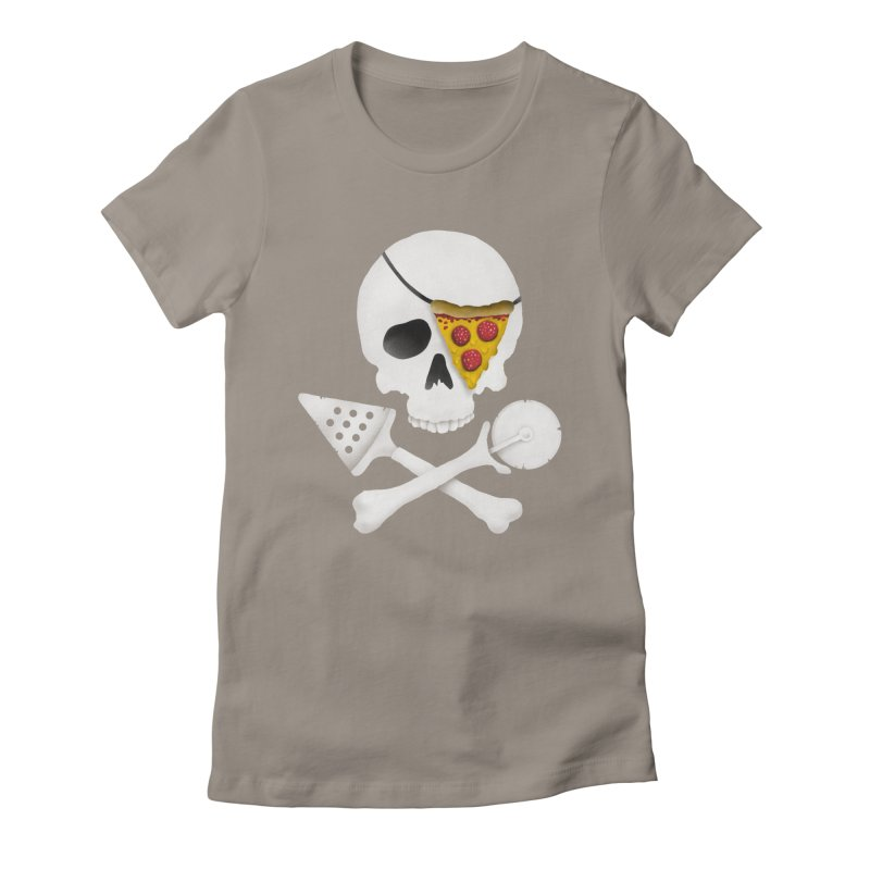 Pizza Raider Women's Fitted T-Shirt by badbasilisk's Artist Shop