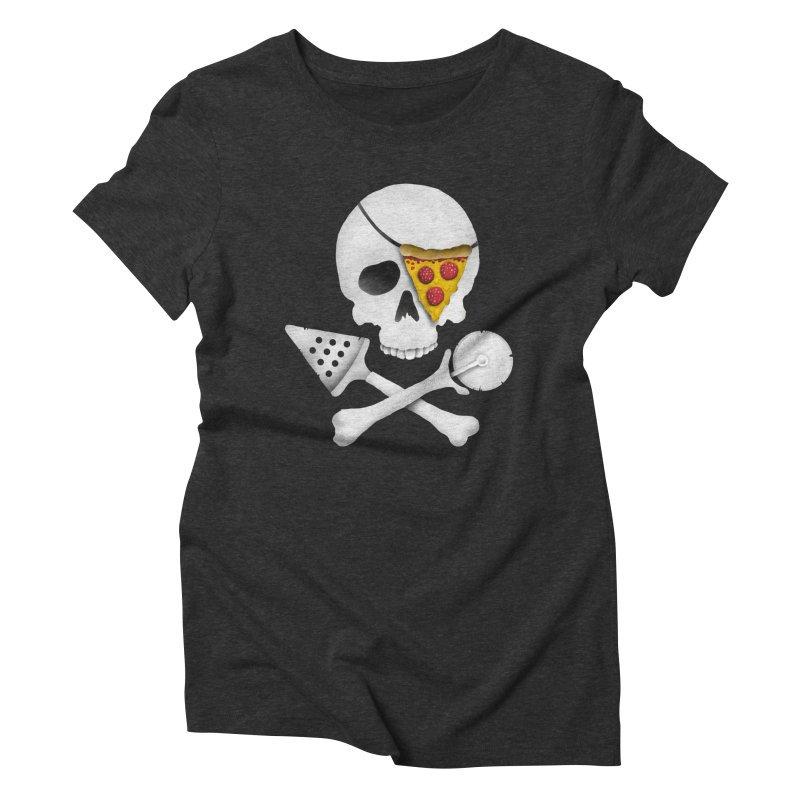 Pizza Raider Women's Triblend T-Shirt by badbasilisk's Artist Shop