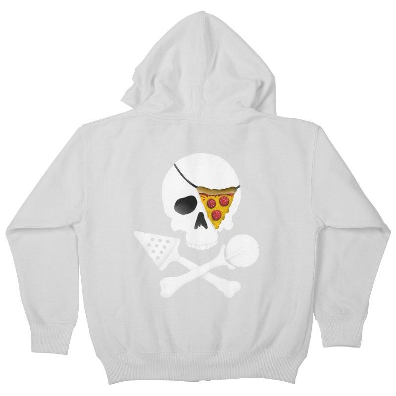 Pizza Raider Kids Zip-Up Hoody by badbasilisk's Artist Shop