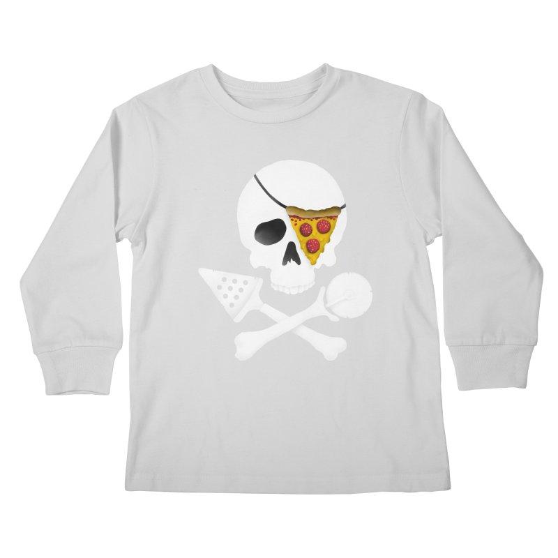 Pizza Raider Kids Longsleeve T-Shirt by badbasilisk's Artist Shop
