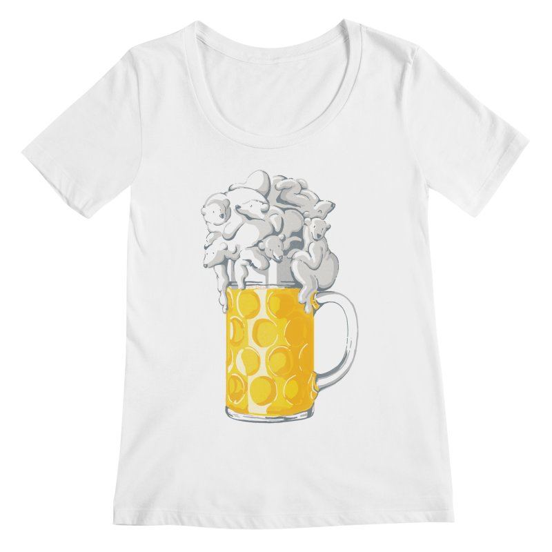 Ice Cold Bee(a)rs Women's Scoopneck by badbasilisk's Artist Shop