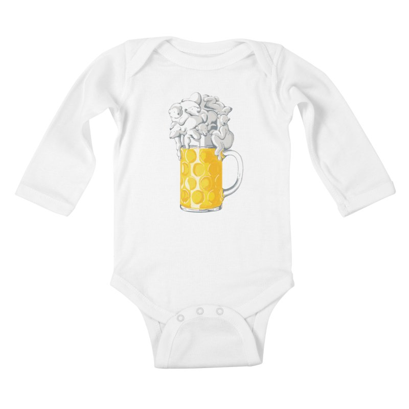 Ice Cold Bee(a)rs Kids Baby Longsleeve Bodysuit by badbasilisk's Artist Shop