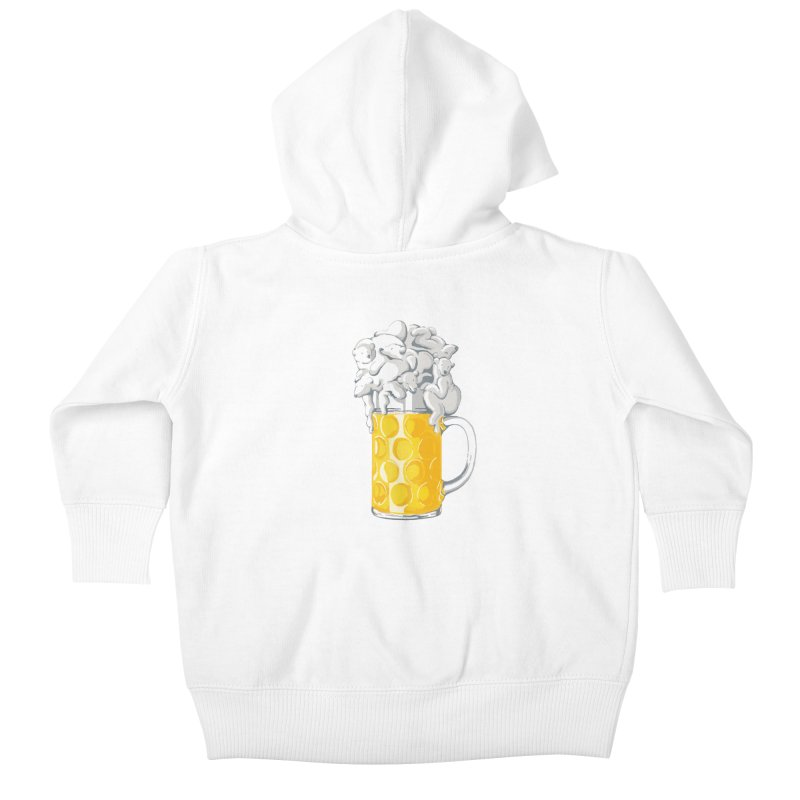 Ice Cold Bee(a)rs Kids Baby Zip-Up Hoody by badbasilisk's Artist Shop