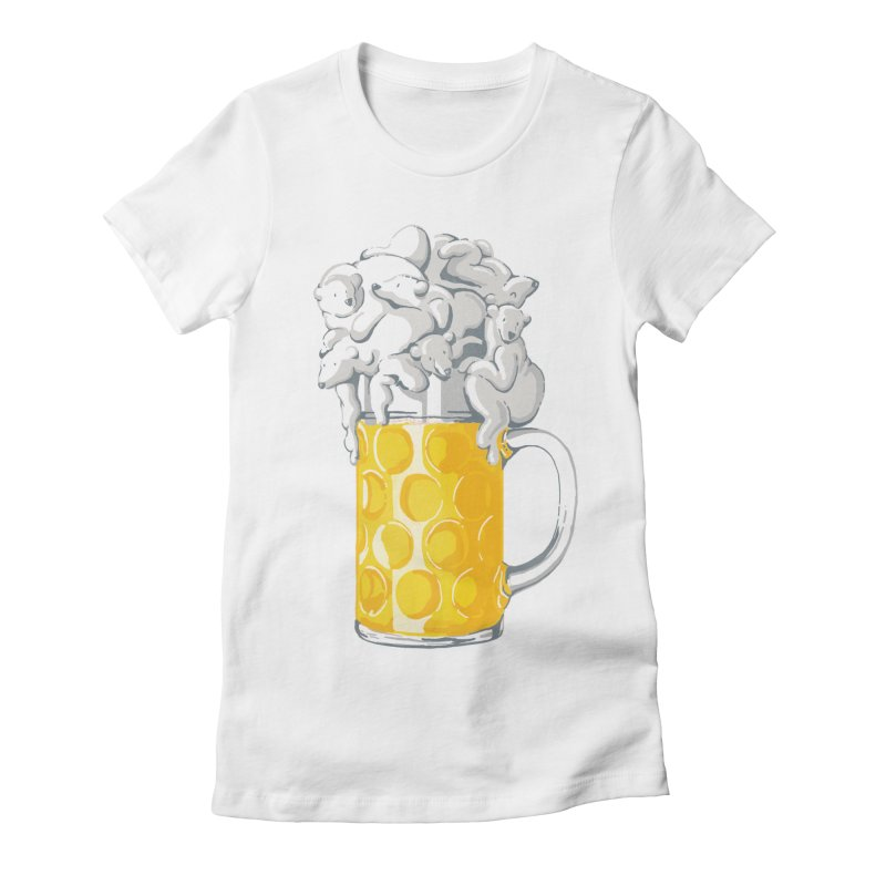 Ice Cold Bee(a)rs Women's Fitted T-Shirt by badbasilisk's Artist Shop
