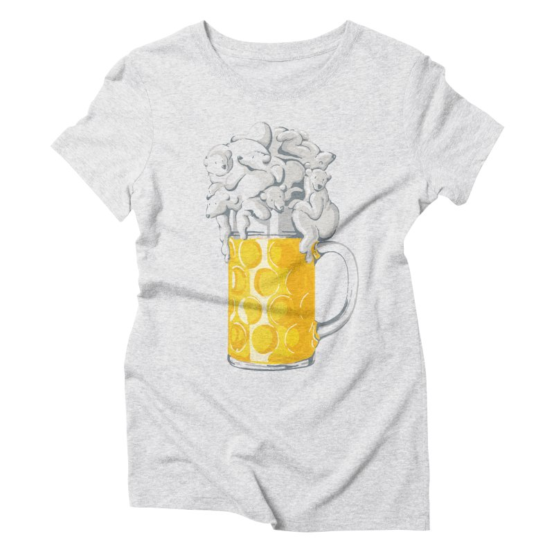 Ice Cold Bee(a)rs Women's Triblend T-Shirt by badbasilisk's Artist Shop