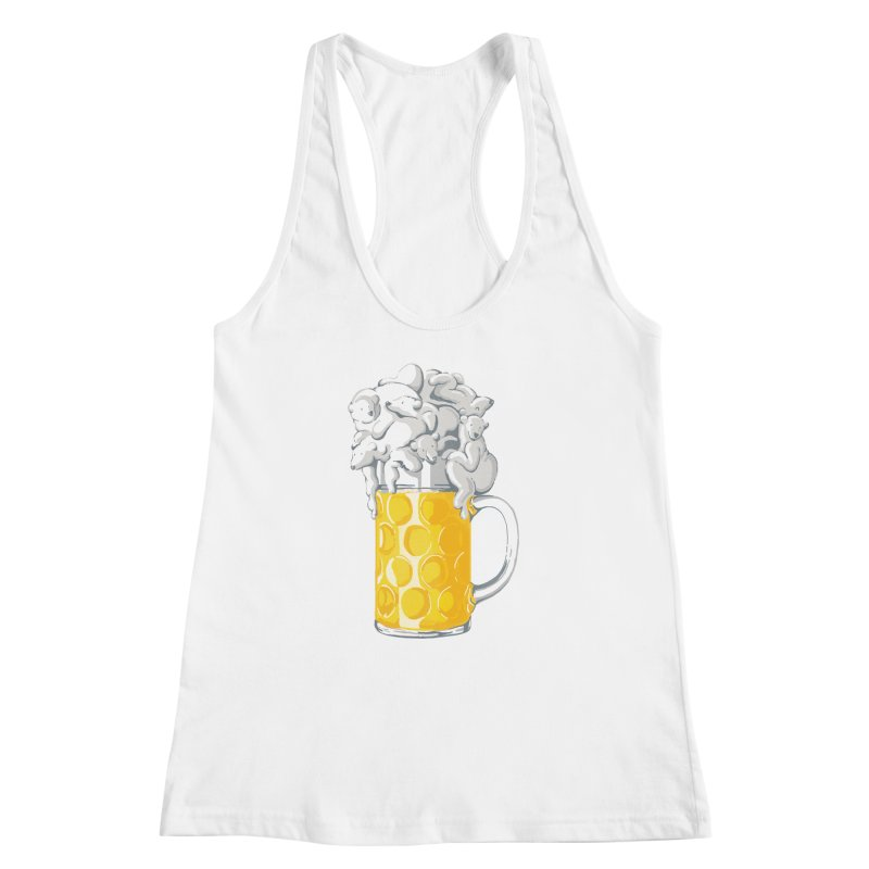 Ice Cold Bee(a)rs Women's Racerback Tank by badbasilisk's Artist Shop
